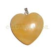 YELLOW JADE -  GEMSTONE HART PENDANT 25MM